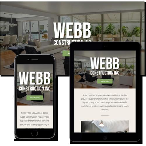 FIRM Solutions - Web Services - Webb Construction site